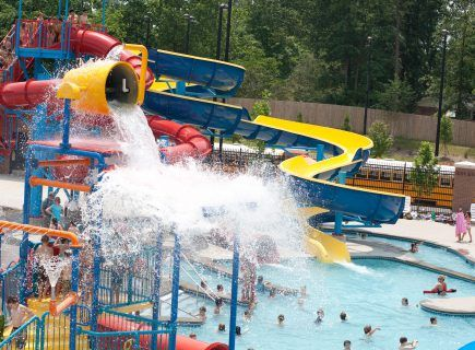 Pool with Large Slide at Cullman Rec Park