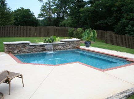 Geometric Pool with Water Features