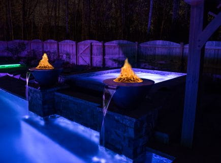 Custom Spa with Pool Lighting