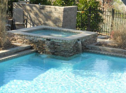 Custom Pool and Spa with Water Features