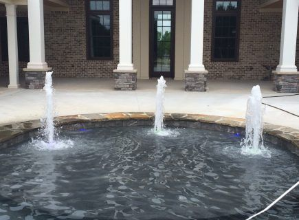 Custom Pool Bubbler Fountains
