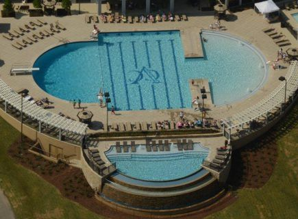 Aerial View of Vestavia Country Club's Pool and Spa
