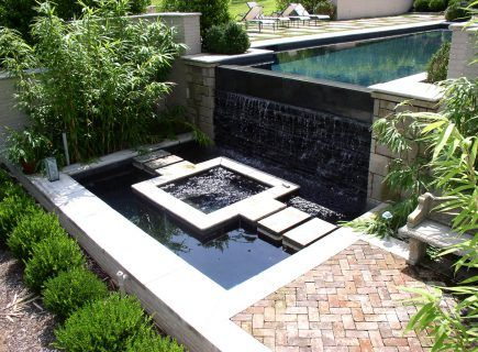 Luxury Custom Waterfall and Water Feature