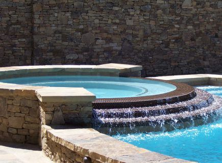 Custom Spa with Water Features