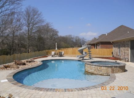 Luxury Outdoor Pool with Spa and Slide