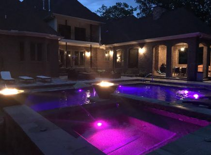 Pool Lighting for a Geometric Pool