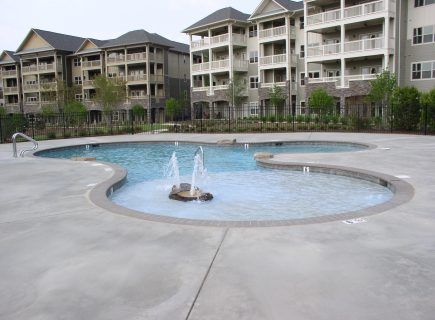 Custom Community Pool, Overlook Condos, Lincoln, AL