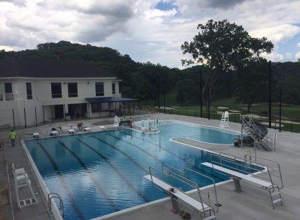 Custom Community Pool, Richland Country Club - Paddock Gutter Pool