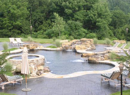 Luxury Outdoor Freeform Pool