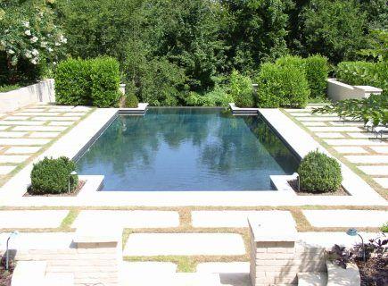 Geometric Inground Infinity Pool